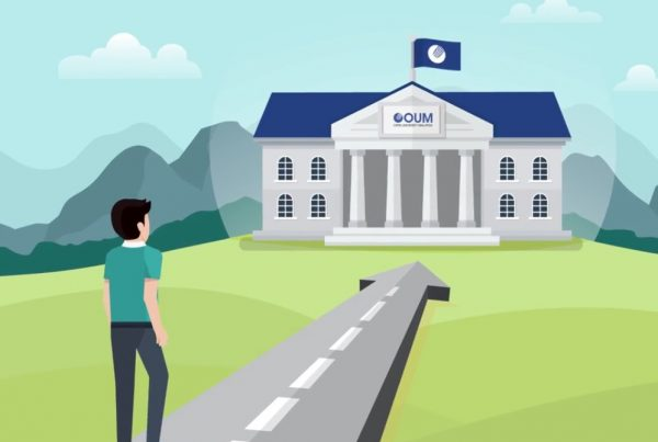 Motion graphics and animation for OUM explainer video by Buzzworks